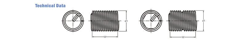 钢丝螺套工程数据