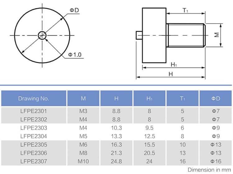 外螺纹带PIN针贴片式接线端子工程数据